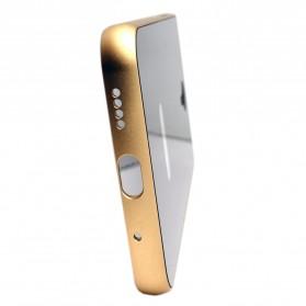 Aluminium Bumper with Mirror Back Cover for Meizu MX5 - Black Gold - 2