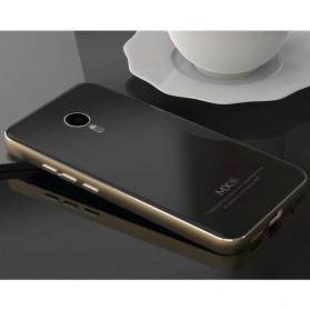 Aluminium Bumper with Mirror Back Cover for Meizu MX5 - Black Gold - 5