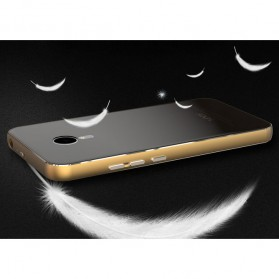 Aluminium Bumper with Mirror Back Cover for Meizu MX5 - Black Gold - 9