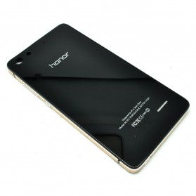 Aluminium Bumper with Mirror Back Cover for Huawei 4C - Black Gold