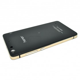 Aluminium Bumper with Mirror Back Cover for Huawei 4C - Black Gold - 2