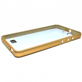 Aluminium Bumper with Mirror Back Cover for Huawei 4C - Black Gold - 7