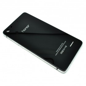 Aluminium Bumper with Mirror Back Cover for Huawei 4C - Black/Silver