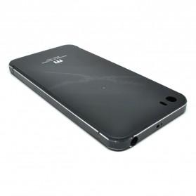 Aluminium Tempered Glass Hard Case for Xiaomi Mi5 - Black/Black - 2
