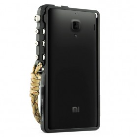 Aluminium Bumper Case Arm Trigger for Xiaomi Redmi Note - Black