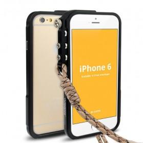 Aluminium Bumper Case Arm Trigger for iPhone 6 Plus - Black