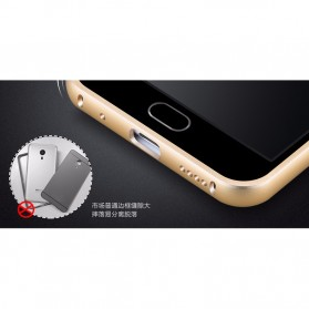 Aluminium Bumper with Wire Drawing Back Cover for Meizu Pro5 - Golden - 3