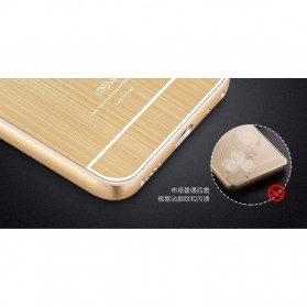 Aluminium Bumper with Wire Drawing Back Cover for Meizu Pro5 - Golden - 5