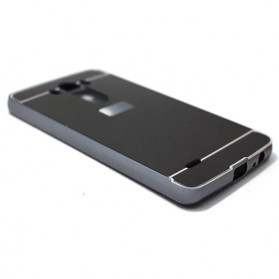 Aluminium Bumper with Mirror Back Cover for LG G3 - Black