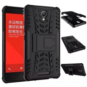 TPU + PC Anti Knock Hard Armor Style Protector Case Cover For Xiaomi Redmi Note 2 - Black