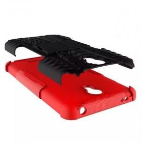 TPU + PC Anti Knock Hard Armor Style Protector Case Cover For Xiaomi Redmi Note 2 - Black - 3