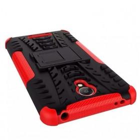 TPU + PC Anti Knock Hard Armor Style Protector Case Cover For Xiaomi Redmi Note 2 - Black - 4