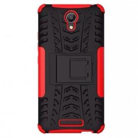 TPU + PC Anti Knock Hard Armor Style Protector Case Cover For Xiaomi Redmi Note 2 - Black - 5