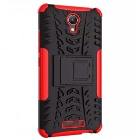 TPU + PC Anti Knock Hard Armor Style Protector Case Cover For Xiaomi Redmi Note 2 - Black - 6