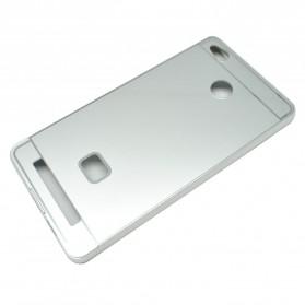Aluminium Bumper with PC Back Cover for Xiaomi Redmi 3 Pro - Silver