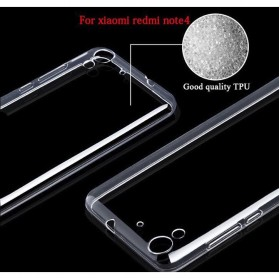 Ultra Thin TPU Case for Xiaomi Redmi Note 4 Mediatek - Transparent - 3
