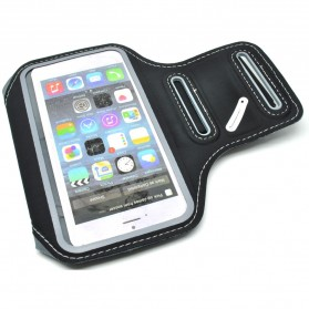 Universal Sports Armband Case with Key Storage L Size - ZE-AD410 - Black