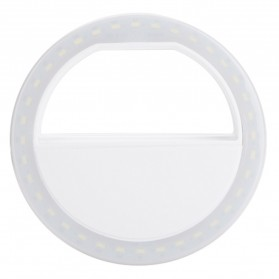 Selfie Spotlight LED Flash Lamp Phone Ring - White