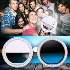 Selfie Spotlight LED Flash Lamp Phone Ring - White - 3