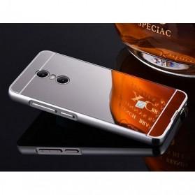 Aluminium Bumper with Mirror Back Cover for Xiaomi Redmi Note 4 - Silver - 2