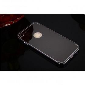 Aluminium Bumper with Mirror Back Cover for iPhone 7/8 Plus - Black