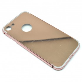 Aluminium Bumper with Mirror Back Cover for iPhone 7/8 - Rose Gold