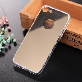 Aluminium Bumper with Mirror Back Cover for iPhone 7/8 - Golden - 4