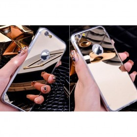 Aluminium Bumper with Mirror Back Cover for iPhone 7/8 - Golden - 7