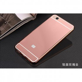 Aluminium Bumper with Mirror Back Cover for Xiaomi Mi5s - Rose Gold