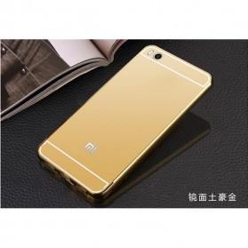 Aluminium Bumper with Mirror Back Cover for Xiaomi Mi5s - Golden