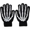 Sarung Tangan Motor - Sarung Tangan Touch Glove Skull Skeleton Design for Smartphone - Black