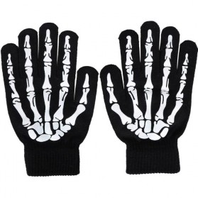 KANCOOL Sarung Tangan Touch Glove Skull Skeleton Design for Smartphone - YN1168 - Black