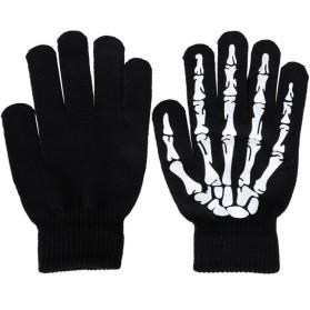 Sarung Tangan Touch Glove Skull Skeleton Design for Smartphone - Black - 2