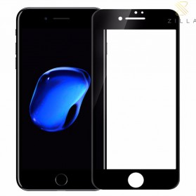 Zilla 3D Full Protect Tempered Glass Curved Edge 9H 0.26mm for iPhone 7/8 - Black