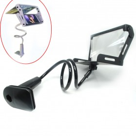 Enlarge 3D Screen Magnifier Bracket with Lazypod for Smartphone - Black
