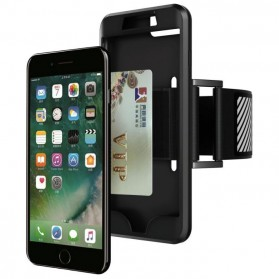 Sports Silicone Armband Case for iPhone 7/8 Plus - Black - 5
