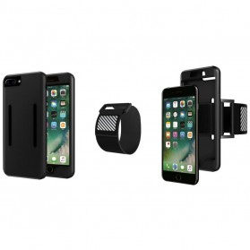 Sports Silicone Armband Case for iPhone 7/8 Plus - Black - 6