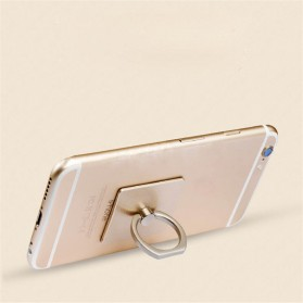 Finger iRing Smartphone Holder Dengan Hook - Black - 2