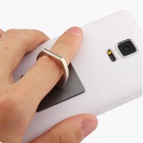 Finger iRing Smartphone Holder Dengan Hook - Black - 5