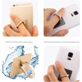 Finger iRing Smartphone Holder Dengan Hook - Black - 6