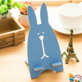 Wooden Smartphone Holder - Blue