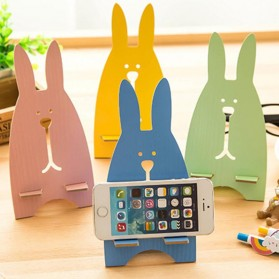Wooden Smartphone Holder - Blue - 2