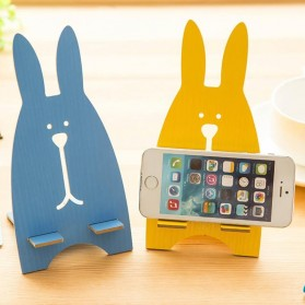 Wooden Smartphone Holder - Blue - 4