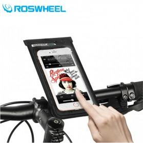 Roswheel Waterproof Bag Holder Sepeda untuk Smartphone 6 Inch - Black