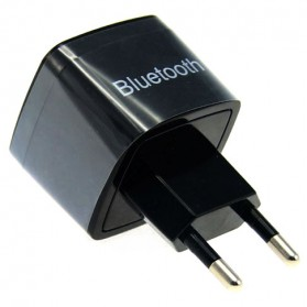 2 in 1 Bluetooth Audio Receiver with USB Charging EU Plug - Black