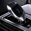 2 in 1 Bluetooth Car FM Transmitters with USB Charging - Silver
