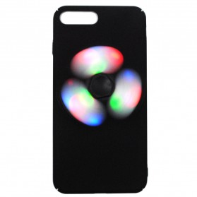 LED Fidget Spinner Smartphone Case for iPhone 6/6s Plus - Black