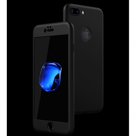 Full Cover Hard Case Brushed for iPhone 7/8 - Black - 3