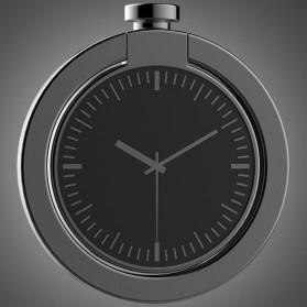 Metal iRing Smartphone Holder Desain Arloji - Black