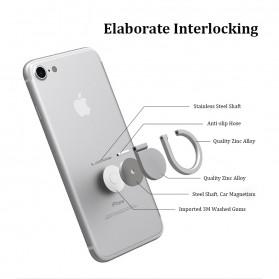 Metal iRing Smartphone Holder Desain Tear Drop - 170908 - Black - 3